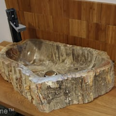 Petrified Wood Bathroom Sinks:  Bathroom by Lux4home™ Indonesia