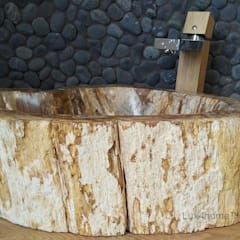petrified wood sink:  Bathroom by Lux4home™ Indonesia