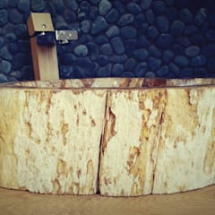 Petrified wood vessel sink - wash basin:  Bathroom by Lux4home™ Indonesia