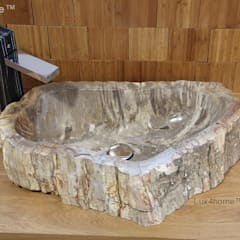 petrified wood wash basin:  Bathroom by Lux4home™ Indonesia