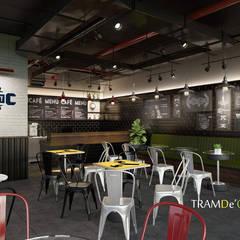 Dwash Coffee:  Cầu thang by Công ty Thiết kế Nội Thất Tramdecor