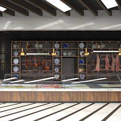 HePe Design interiors – Kasap/Şarküteri:  tarz Yeme & İçme