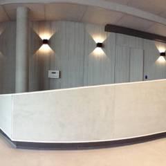 Banque d'accueil sur mesure et spectaculaire: Bureaux de style  par Thomas JENNY