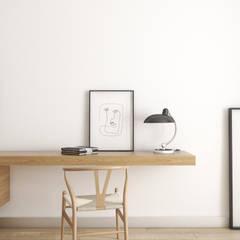 Warszawa   Wola I: styl , w kategorii Domowe biuro i gabinet zaprojektowany przez Marta Wypych   pracownia projektowa