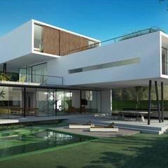 Casa container : Edifícios comerciais  por Engenharia expressa