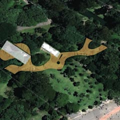 Novo Restaurante Parque Ibirapuera: Espaços gastronômicos  por Panapaná • Estúdio de Projetos