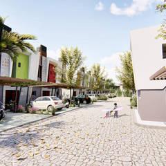 Vista peatonal del condominio - 3: Condominios de estilo  por Módulo 3 arquitectura