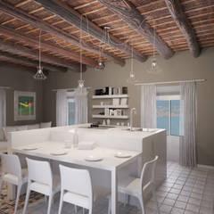 Rivisitazione apartamento primo 900: Cucina in stile in stile Classico di Arch. Francesco Antoniazza - Dimore di Lago