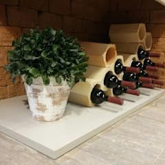 rustic Wine cellar by Deyse Porto Arquitetura