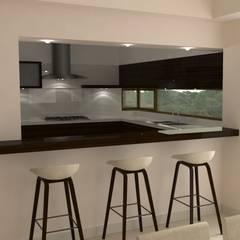 Vivienda en Pago Chico: Cocinas de estilo moderno por NA ARQUITECTURA