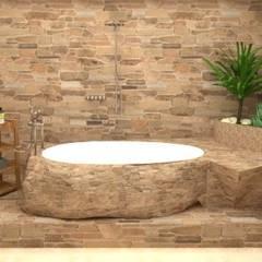 Modelado 3D: Baños de estilo  por Estudio Carmesí. Diseño y Decoración