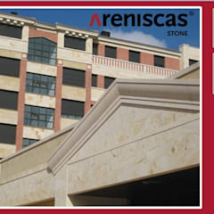 ✳Piedra Natural de España ✳Natural Stone from Spain  ✳Pierre Naturelle d´Espagne  ✳Naturstein aus Spanien  : Edificios de oficinas de estilo  de ARENISCAS STONE