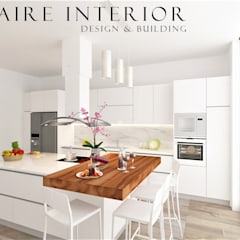 Kitchen Set Modern Minimalist:  Dapur built in by Claire Interior Design & Building