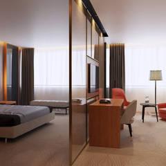 """Номер """"Люкс"""": Гостиницы в . Автор – Duplex Apartment Интерьерные решения"""
