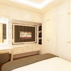 Renovasi Kamar Tidur Utama: Kamar Tidur oleh Tata Griya Nusantara, Klasik Kayu Lapis