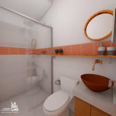 Banheiro: Banheiros rústicos por Ladrilho Urbanismo e Arquitetura