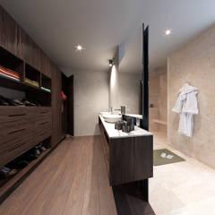 BAÑO Y VESTIDOR : Baños de estilo  por CIC ARQUITECTOS