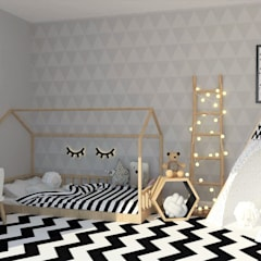Girls Bedroom by moffitdesign,