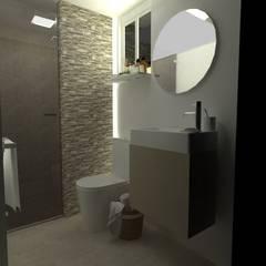 BAÑO TABACALERA: Baños de estilo  por Arq. Vianey Pineda,