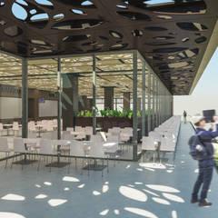 Camara 11 - Interior/Exterior (Terraza patio de comidas): Shoppings y centros comerciales de estilo  por DUSINSKY S.A.