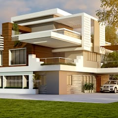 3D Architectural Exterior Rendering:  Single family home by ThePro3DStudio
