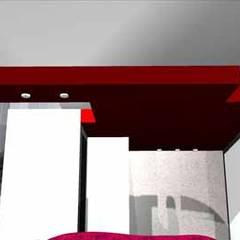 Dúplex en el Molar: Tejados de estilo  de AM interiors - designs