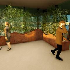 Pil Tasarım Mimarlik + Peyzaj Mimarligi + Ic Mimarlik – Ofis Ic Mekan Peyzaj Projesi :  tarz Kış Bahçesi