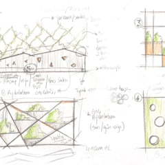 Pil Tasarım Mimarlik + Peyzaj Mimarligi + Ic Mimarlik – Ofis Ic Mekan Peyzaj Projesi : tropikal tarz tarz Bahçe