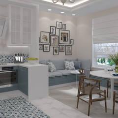 Уютная городская квартира с элементами прованского стиля: Кухни в . Автор – design4y