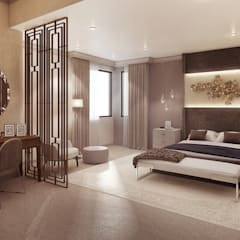 Modern Contemporary Pretoria Home:  Bedroom by Dessiner Interior Architectural