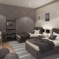 Modern Contemporary Pretoria Home:  Bedroom by Dessiner Interior Architectural, Modern