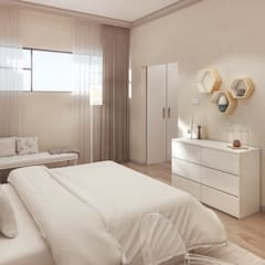 Girl's Bedroom:  Bedroom by Dessiner Interior Architectural