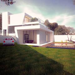 渡假會所設計案:  度假別墅 by 勻境設計 Unispace Designs