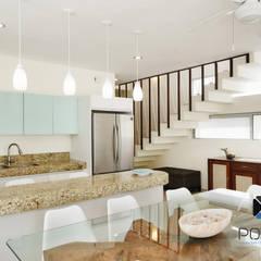 PROYECTO VILLA WAYAK: Cocinas de estilo  por PORTO Arquitectura + Diseño de Interiores