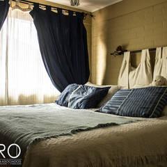 Casa habitacion Cerrillo 114m2: Dormitorios de estilo  por Dcero Arquitectura