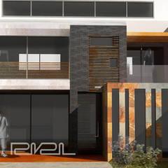 CASA ARIAS: Casas unifamiliares de estilo  por RIVAL Arquitectos  S.A.S.