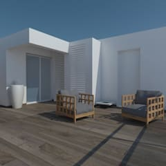 Outdoor design:  Terrace by ANUP DEZINES