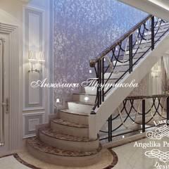 Escaleras de estilo  por Дизайн-студия элитных интерьеров Анжелики Прудниковой
