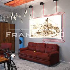 Нестандартный кабинет-мастерская с мужским характером: Рабочие кабинеты в . Автор – Frandgulo