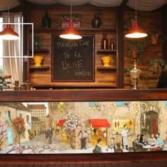 Quadro pintado para o local: Espaços gastronômicos  por ALA Arquitetura e Interiores