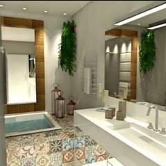 Banheiro do casal: Banheiros  por ALA Arquitetura e Interiores