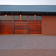 Garages:  Double Garage by Hugo Hamity Architects