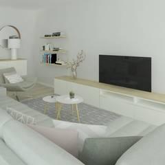 Living room by Ana Andrade - Design de Interiores