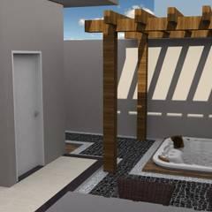 Projeto Residencia Moderna: Jardins de inverno modernos por Arch & Design Studio