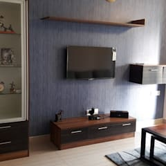 Ghatkopar residence: modern Media room by Rennovate Home Solutions pvt ltd