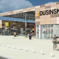 Camara 16 - Vista de acceso: Shoppings y centros comerciales de estilo  por DUSINSKY S.A.