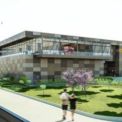 Camara 18 - Bloque patio de comidas: Shoppings y centros comerciales de estilo  por DUSINSKY S.A.