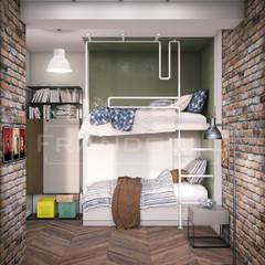 Habitaciones para niños de estilo industrial por Frandgulo
