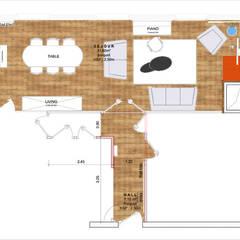 Plan projet couleur: Salon de style de style Classique par Faiseur de Lieux