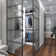Дизайн-проект просторной квартиры в Москве : Гардеробные в . Автор – design4y